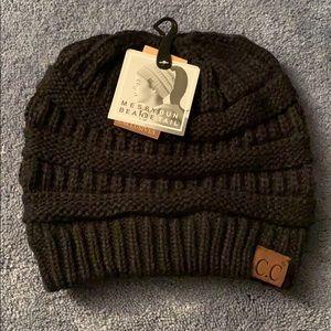 C.C • Messy Bun Beanie Tail Hat